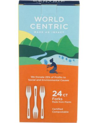 Compostable Corn Starch Forks