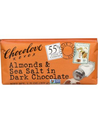 Almonds & Sea Salt In Dark Choc