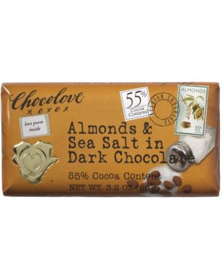 Dark Choc W/Almonds & Sea Salt